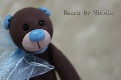 Artist Bear  Polymer Clay
