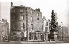 Junction of Pearse and Townsend Street, Dublin. Now Pearse Street Garda Station. Dublin Street, Dublin City, Dublin Ireland, Ireland Travel, Old Pictures, Old Photos, Irish Independence, Ivy Rose, Ireland Homes