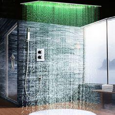 Pegasus Best Huge Shower System Rainfall DIYHomeDiscounts with Hand Sprayer Huge Shower, Led Shower Head, Master Shower, Shower Set, Shower Heads, Wall Of Water, Waterfall Shower, Rainfall Shower, Shower Panels