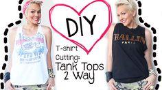 DIY How to Cut A T-Shirt 2 Ways into A Tank Tops