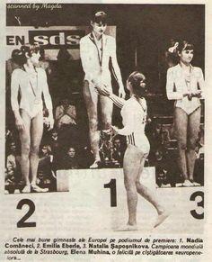 Nadia Comaneci,Emilia Eberle, Natalia , IShaposhnikova and Elena Mukhina❤ I love podium shots