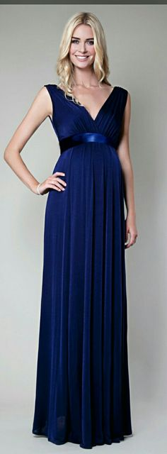 Anastasia Maternity Gown Eclipse Blue - Maternity Wedding Dresses, Evening Wear and Party Clothes by Tiffany Rose Maternity Bridesmaid Dresses, Royal Blue Bridesmaid Dresses, Maternity Gowns, Maternity Fashion, Wedding Dresses, Maternity Wedding, Tiffany Rose, Dresses For Pregnant Women, Pregnant Wedding Dress