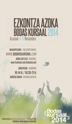 Este mes Guipuzkoa celebra su feria anual #BodasKursaal2014. Si te casas visita la feria los días 08 y 09. @MiBodaApp