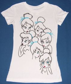 Women's/Juniors TINKERBELL Disney Slimfit T-Shirt C603 #Disney #GraphicTee