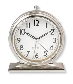 1931 Big Ben Alarm Clock: Clocks | Free Shipping at L.L.Bean...to help get the phone out of the bedroom