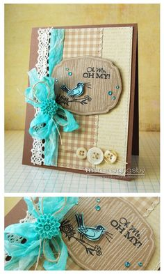 love the kraft, cream and aqua by Mariana