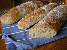 Bagety (fotorecept) Ciabatta, Bread Baking, Hot Dog Buns, Bread Recipes, Ale, Cooking, Food, Basket, Cookies