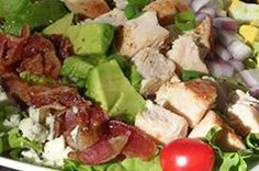 Chicken Cobb Salad--sub in spinach for lettuce due to lettuce allergy.