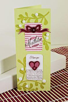 Mistletoe Kisses Card by Erin Lincoln for Papertrey Ink (September 2012)