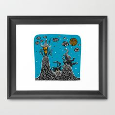 Buy Blue moment by Raquel Benmergui    as a high quality Framed Art Print. Worldwide shipping available at Society6.com. Just one of millions of products… #society6