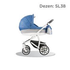 Bebetto TORINO S-line kolica za bebe, set 3u1, dezen SL38