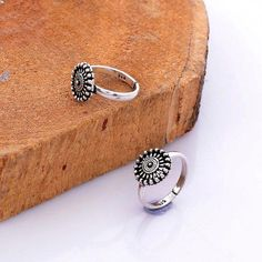 925 Solid Sterling Silver Unique Flower Design Oxidize Silver Toe Ring, US Adjustable, Bohemian Oxidize Toe Ring, Gift For Women by KrishnaJewelsByAnuj on Etsy Sterling Silver Toe Rings, Silver Anklets, Silver Jewelry, Indian Jewelry, Silver Ring, Toe Ring Designs, Anklet Designs, Jewellery Designs, Leg Finger Ring