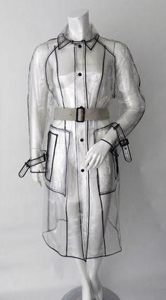 Prada Clear Vinyl Raincoat Trench image 6