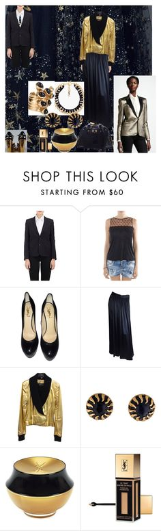 """""""YVES"""" by msdejazzy ❤ liked on Polyvore featuring Yves Saint Laurent"""