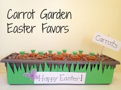Tutorial: Carrot Garden Easter Favors - so cute! Dollar Store Craft!