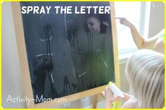 The Activity Mom: Spray the Letter