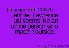 I felt like this was appropriate for this board b/c we're all the best kind of crazy, just like Jennifer Lawrence :D