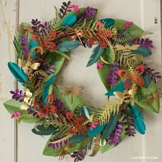 Make a Boho Botanical Paper Wreath | Easy Home Decor