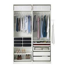 """PAX Wardrobe - 59x26x93 1/8 """", soft closing damper - IKEA"""
