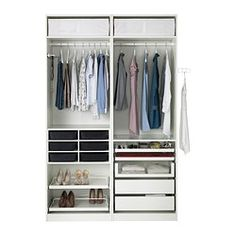 Pax wardrobe ikea and wardrobes on pinterest - Caisson penderie ikea ...