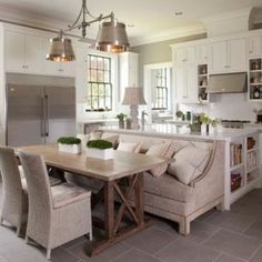 Marvelous Kitchen Island With Table Attached #10 - Small Eat In Kitchen Table Ideas