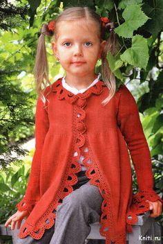 Детский кардиган, прекрассный наряд для вашей девочки — Мир вязания и рукоделия