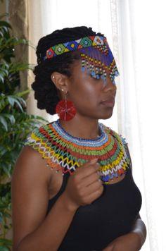 women accessories jewelry leather harness women accessories crochet patterns for women accessories African Beauty, African Women, African Fashion, African Style, African Accessories, African Jewelry, Women Accessories, Zulu Traditional Wedding, Zulu Women