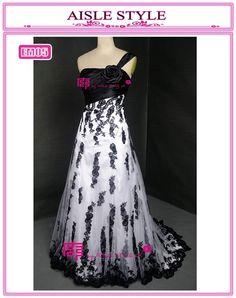 unique black and white wedding dress