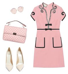 """Class Pink"" by celine46 on Polyvore featuring Gucci, N°21, Valentino and Francesco Russo"