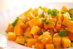 Probieren und Studieren : Butternusskürbis aus dem Ofen mit Honig & Feta Bunt, Feta, Sweet Potato, Cantaloupe, Carrots, Potatoes, Vegetables, Orange, Yummy Food
