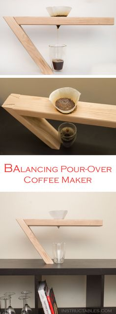 Love the physics of the balancing (or floating) wine bottle holder? Make a version of this fun trick of the eye for your coffee maker! #caffeine