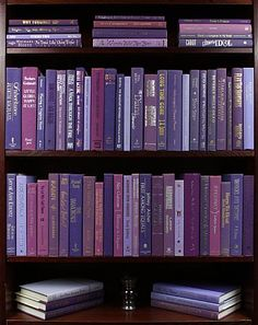 """Purple Passion"" Oh my goodness you can order books in any color by the foot!!!"
