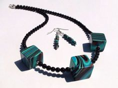 Try shades of blue by Cristina Radu on Etsy Arrow Necklace, Beaded Necklace, Blue Gift, Emerald Earrings, Summer Of Love, Etsy Jewelry, Modern Classic, Shades Of Blue, Teal
