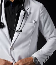 Lab Coat Lookbook - Jaanuu Doctor White Coat, Doctor Coat, Lab Coats For Men, Medical Wallpaper, Scrubs Outfit, Restaurant Uniforms, Fairytale Fashion, Stylish Shirts, Medical Scrubs