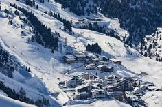 An poster sized print, approx (other products available) - The Austrian skiing village of Obergurgl covered in winter snow at the end of the Otztal valley, Tyrol, Austria, Europe - Image supplied by WorldInPrint - Poster printed in Australia Framed Prints, Canvas Prints, Europe Photos, Winter Snow, Photographic Prints, Gifts In A Mug, Poster Size Prints, Photo Mugs, Tyrol Austria