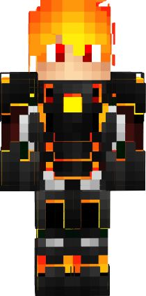 3D fire boy   Nova Skin