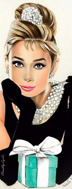 by Natalia Breakfast at Tiffany's Source by lazutjna dibujo Arte Audrey Hepburn, Audrey Hepburn Illustration, Aubrey Hepburn, Woman Illustration, Audrey Hepburn Drawing, Audrey Hepburn Pictures, Arte Marilyn Monroe, Mode Poster, Parisienne Chic