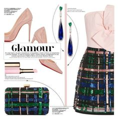 """Glamour"" by yurisnazalieth ❤ liked on Polyvore featuring Anabela Chan, Elie Saab, Delpozo and Christian Louboutin"