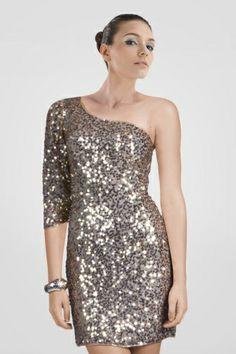 attractive-oneshoulder-short-cocktail-dress-sequins-covered-with-single-sleeve
