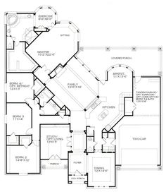 The Plan Studio - A Popular 1 Story<br>Scarborough The Plan, How To Plan, Dream House Plans, House Floor Plans, My Dream Home, Ranch Style Floor Plans, One Level House Plans, One Level Homes, Building Plans