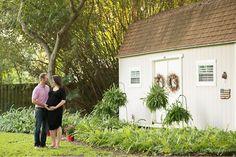Orlando Maternity Session - Corner House Photography - Orlando Maternity Photographer - parents to be posing in backyard