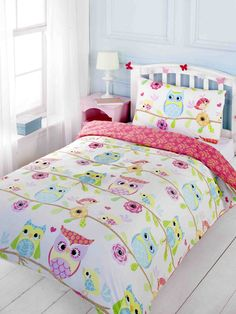 Owl and Friends Double Duvet Cover and Pillowcase Set - Kids Bedroom