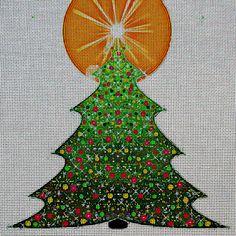Needlepoint Canvas - Christmas holidays christmas tree https://www.stitchartneedlepoint.com/products/700001081473