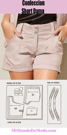 Sewing Shorts, Sewing Clothes, Diy Clothes, Fashion Sewing, Diy Fashion, Fashion Outfits, Dress Sewing Patterns, Clothing Patterns, Como Fazer Short