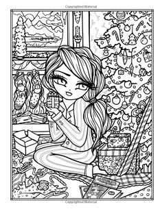 A Whimsy Girls Christmas Coloring Book: Festive Girls, Fairies, & Fairy Coloring, Colouring Pics, Coloring Books, Kids Coloring, Blank Coloring Pages, Printable Adult Coloring Pages, Colorful Drawings, Colorful Pictures, Christmas Coloring Sheets