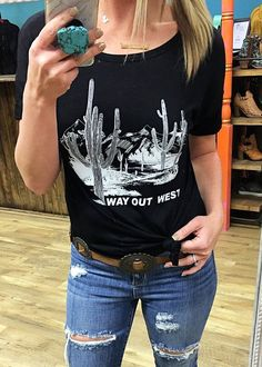 Way Out West Graphic Tee - Black