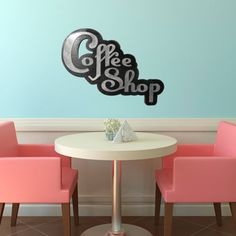 unique design, very juvenile, in a good way. No one has to grow up here.  coffee shop sign