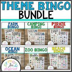 Theme Bingo Bundle by Primary Playground | Teachers Pay Teachers