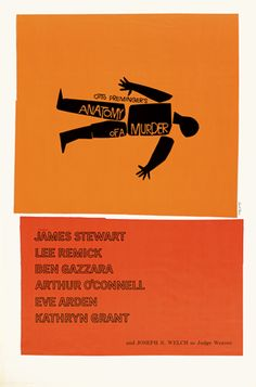 In honor of Saul Bass' birthday today! Anatomy of a Murder - Movie Poster by Saul Bass Iconic Movie Posters, Cinema Posters, Iconic Movies, Good Movies, Watch Movies, Greatest Movies, Horror Posters, Movies Free, Gaara