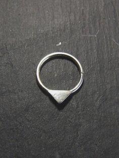 Tiny Triangle Septum // Handmade Piercing // 925 Eco Sterling